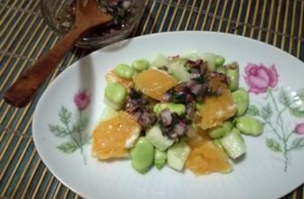 Fantasia in tavola: insalata di fave e arance.