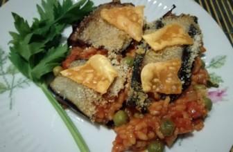 Timballo di riso con le melanzane: Sicilia in tavola