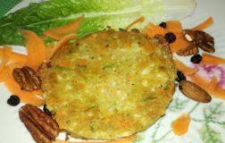 Burger di cavolfiore, carote e fagiolini profumati al curry