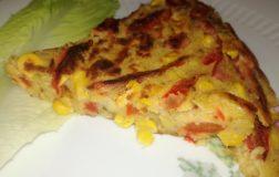 Frittata con peperoni e mais senza uova: facile e veloce