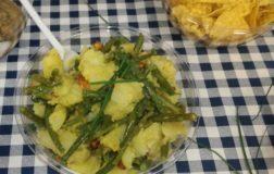 Insalata di fagiolini e patate profumate alla curcuma