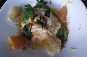 Carpaccio di sedano rapa all'arancia e limone: il millefoglie vegano