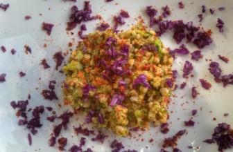 Sorgo con broccoli, tempeh e cavolo rosso. Ricetta Bimby o in padella