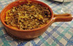 Polenta ai funghi porcini: l' autunno in tavola