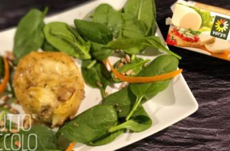 Sformatino di patate rosse con funghi e mozzarisella