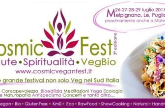 A Melpignano (Le) la 3a edizione del Cosmic Fest dal 26 al 29 Luglio 2017.