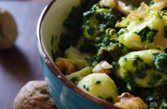 Gnocchi di patate senza glutine con pesto crudo di cavolo nero