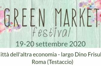 Green Market Festival a Roma il 19 e 20 settembre arriva il week end ecosostenibile