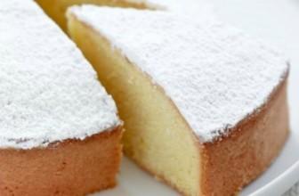 Una perfetta torta margherita vegana.