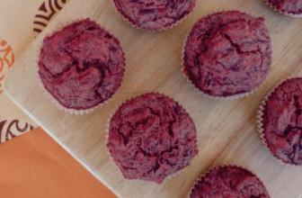Muffin alle rape rosse, ricetta 100% vegetale