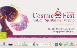 Cosmic Fest 2018, torna il festival Veg e Olistico del Sud Italia
