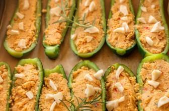 Zucchine ripiene con tempeh e cous cous