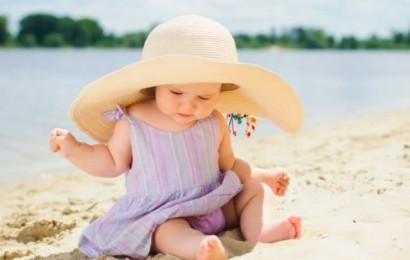 Little cute girl on the beach