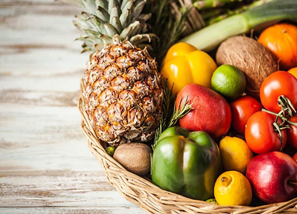 Frutta e verdura per una tavola da campioni