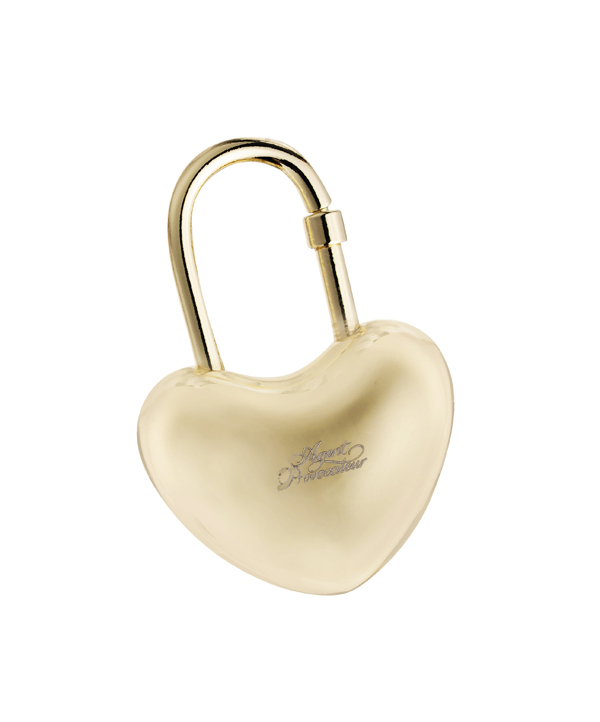 Heart Key Ring Gold