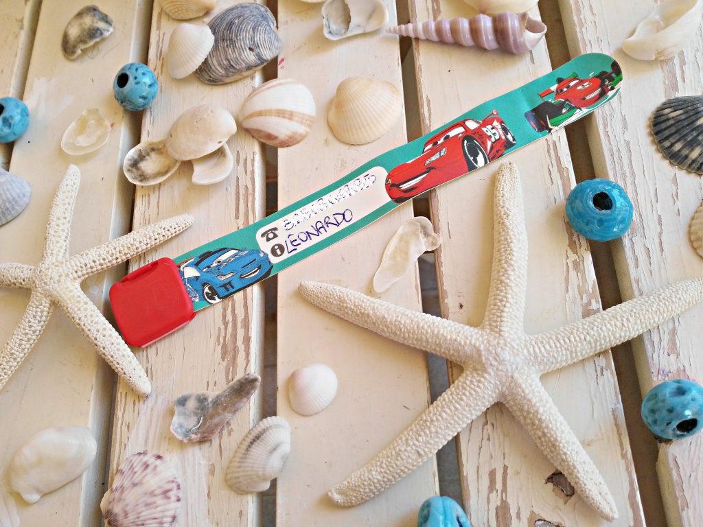 braccialetto identificativo bambini spiaggia